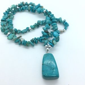 Jewelry - Turqoise Chip Necklace
